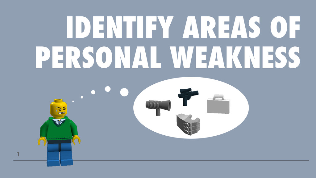 IDENTIFY AREAS OF PERSONAL WEAKNESS 1