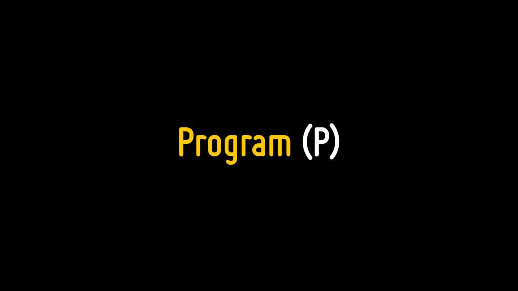 Program (P)
