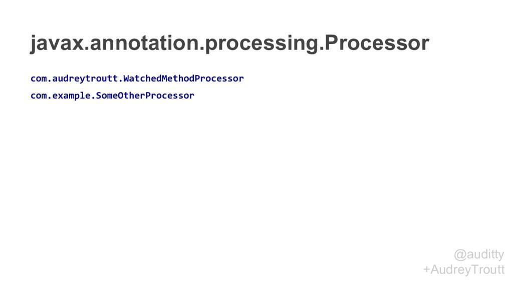 @auditty +AudreyTroutt javax.annotation.process...