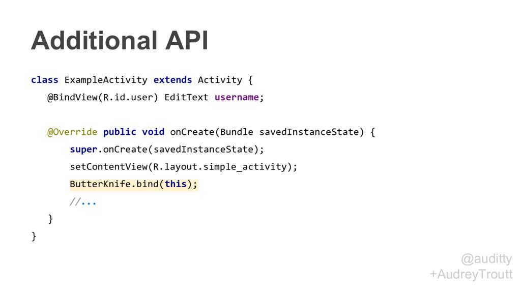 @auditty +AudreyTroutt Additional API class Exa...