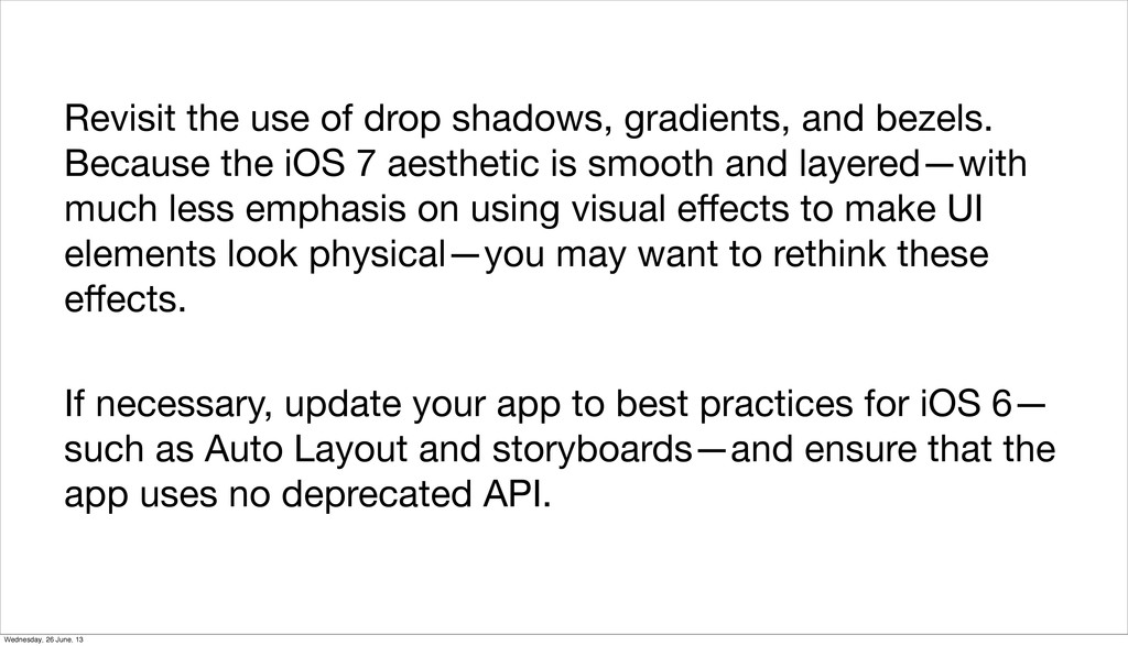 Revisit the use of drop shadows, gradients, and...