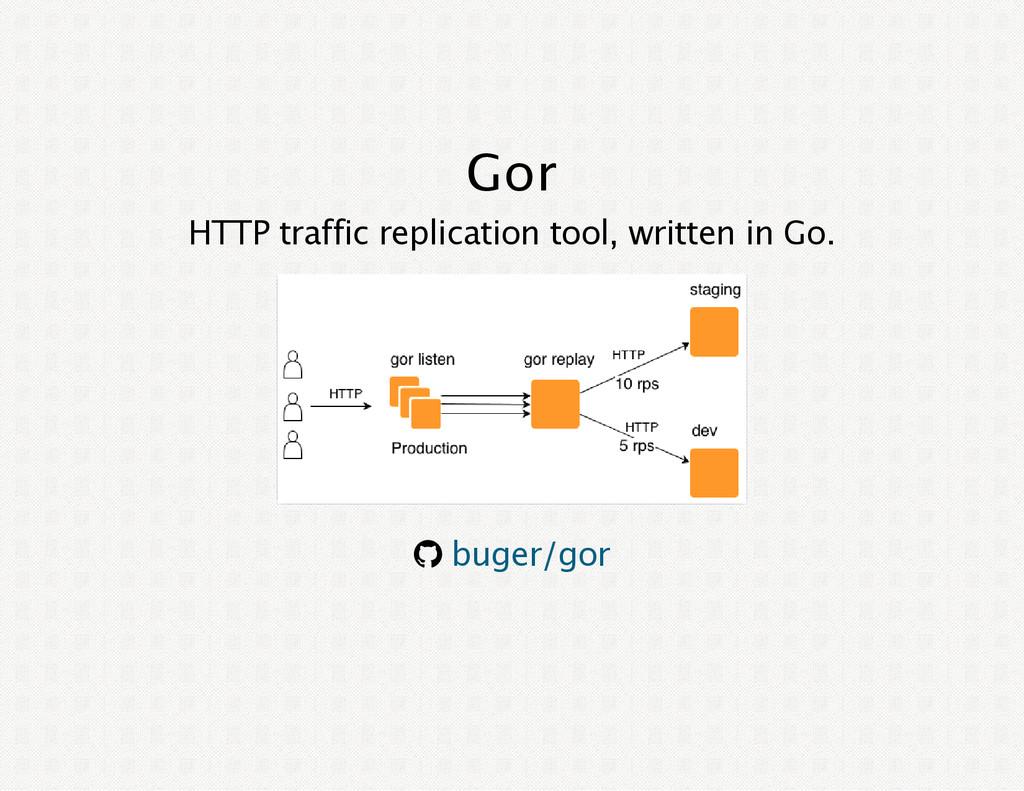 Gor HTTP traffic replication tool, written in G...