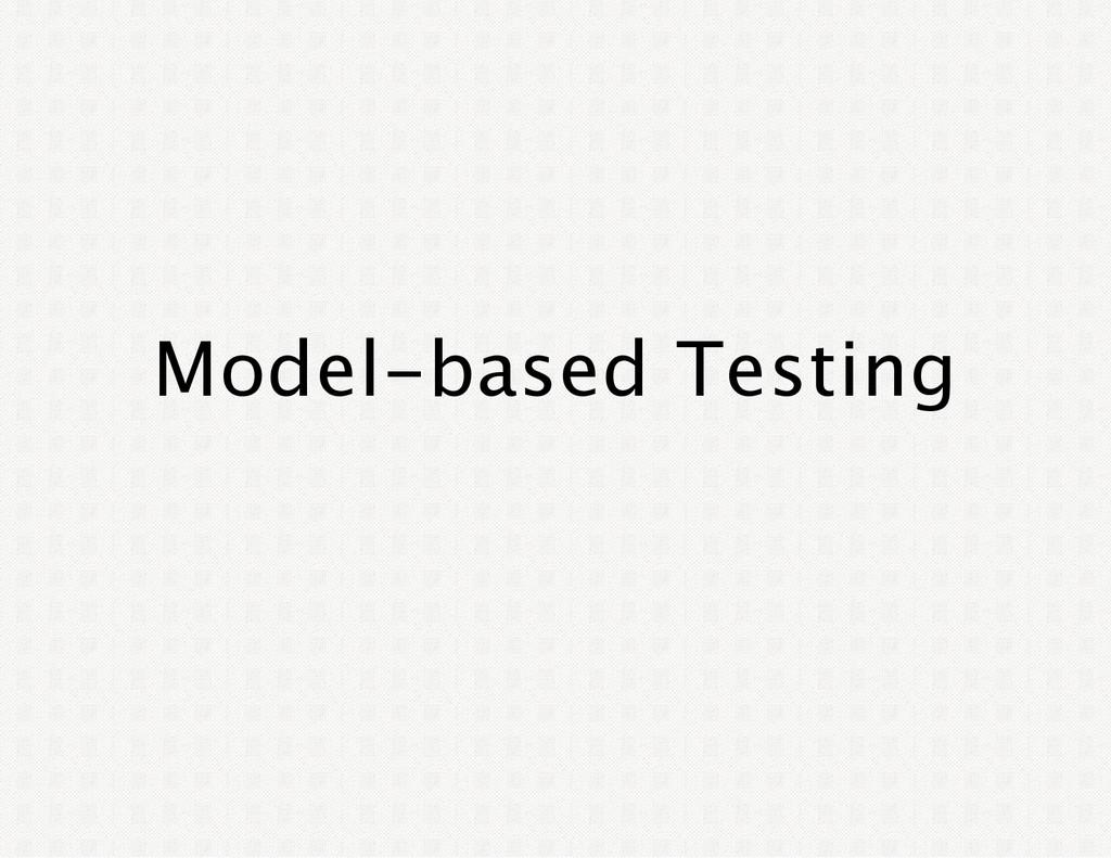 Model‑based Testing