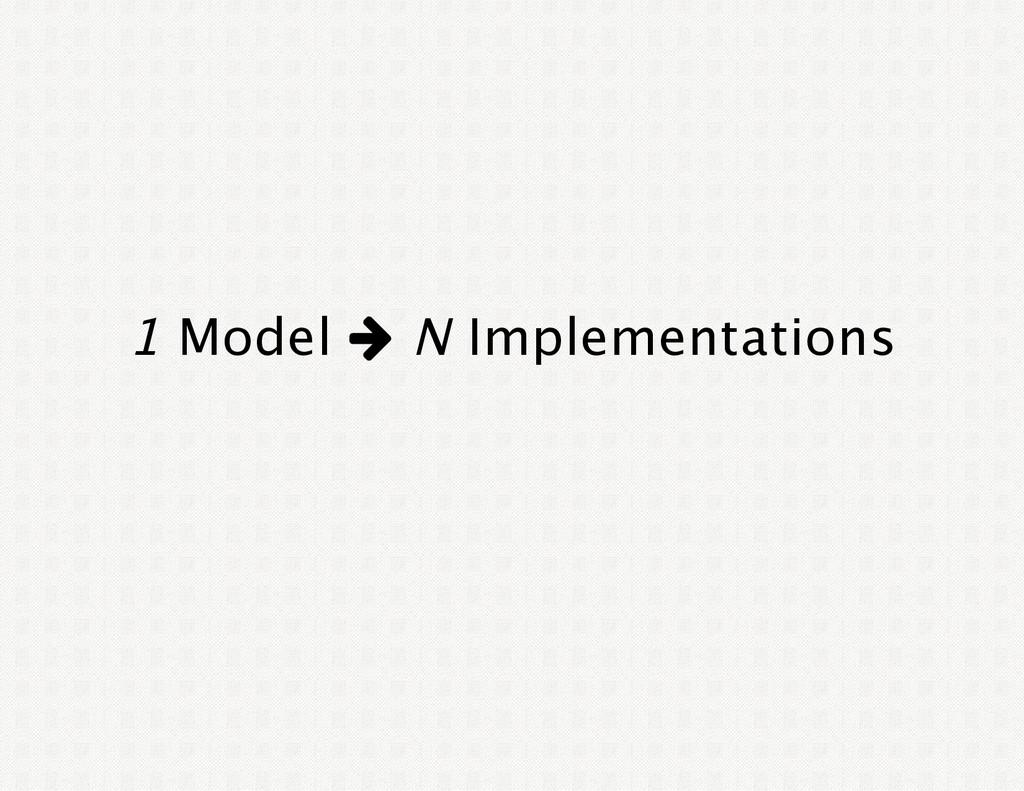 1 Model w N Implementations