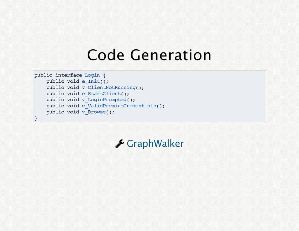 Code Generation public interface Login { public...