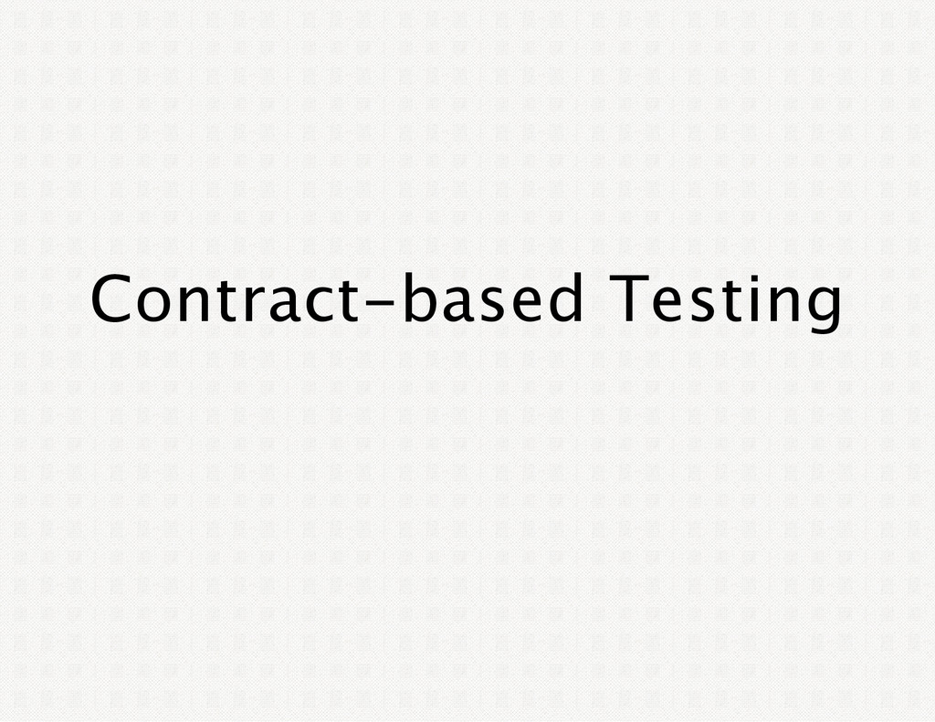 Contract‑based Testing