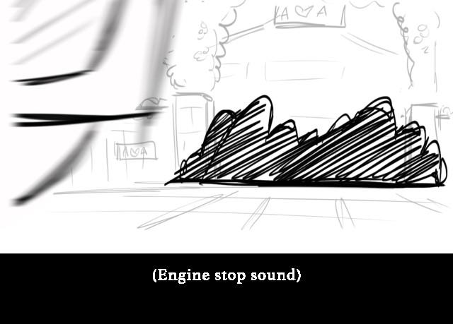 (Engine stop sound)