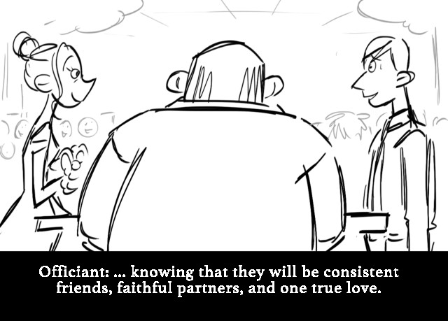 Officiant: ... knowing that they will be consis...