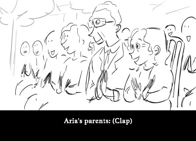 Aria's parents: (Clap)