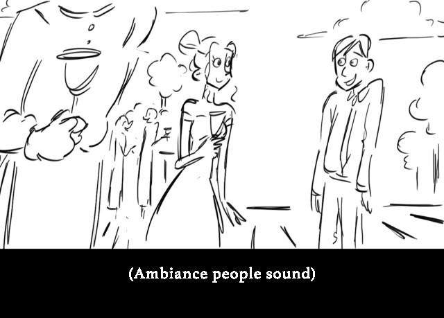 (Ambiance people sound)