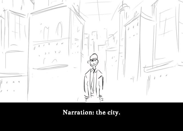 Narration: the city.