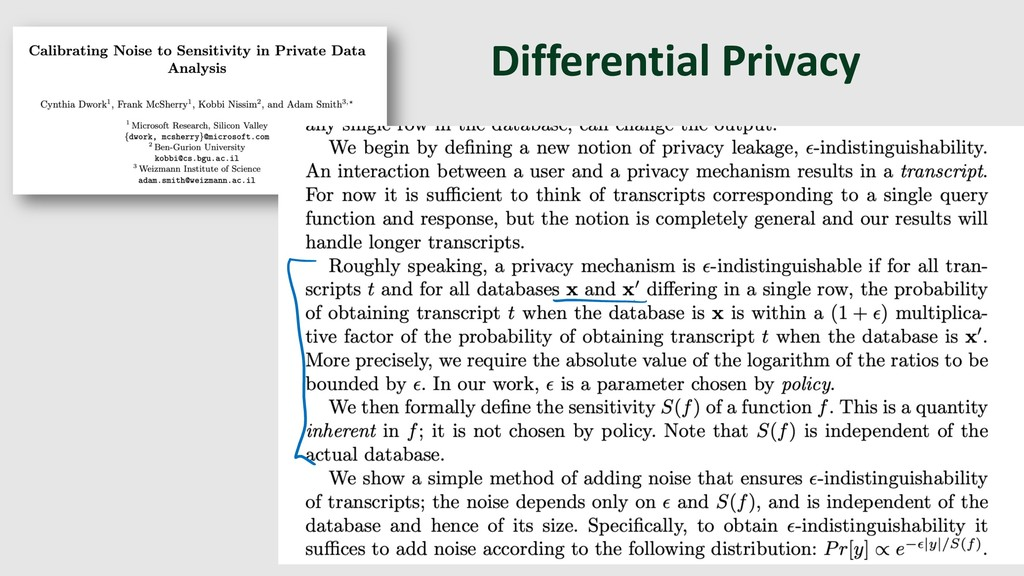 Differential Privacy 10 TCC 2006