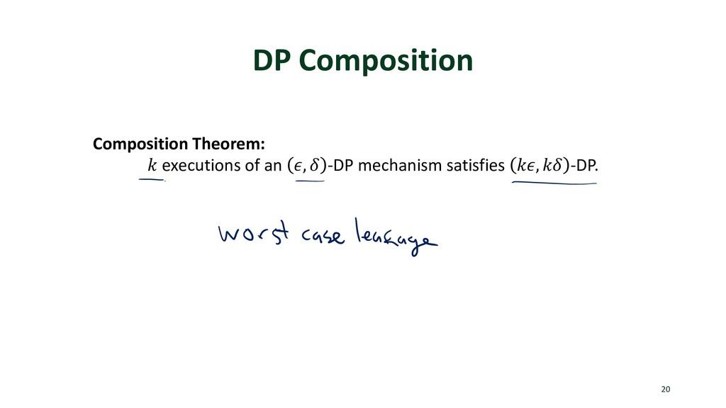 DP Composition 20 Composition Theorem: ! execut...