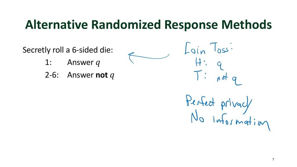 Alternative Randomized Response Methods Secretl...