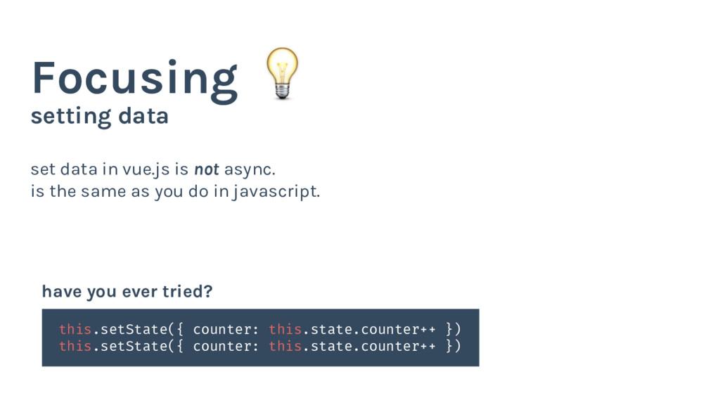 setting data Focusing set data in vue.js is not...