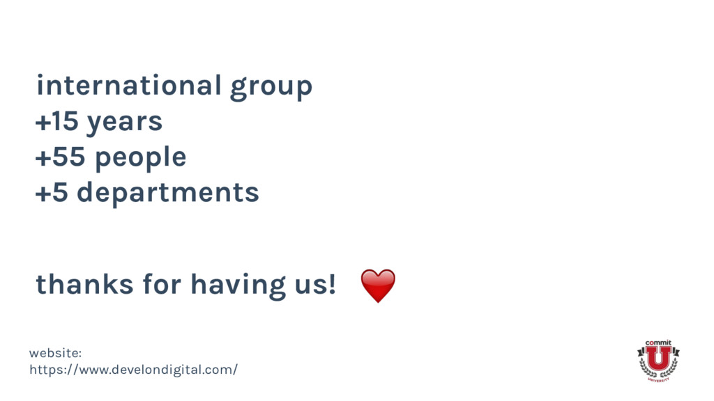 international group +15 years +55 people +5 dep...