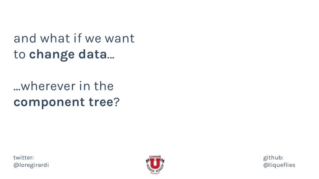 and what if we want to change data... ...wherev...