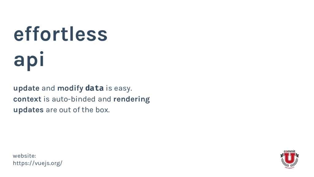 effortless api update and modify data is easy. ...