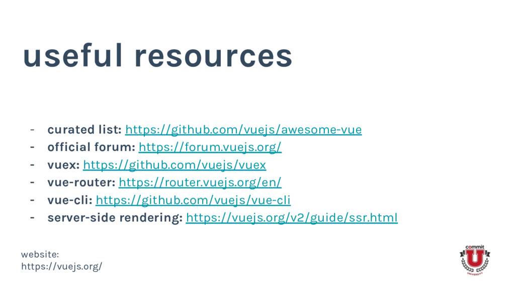 useful resources - curated list: https://github...