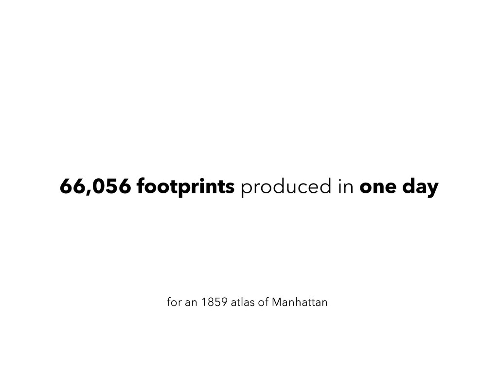 66,056 footprints produced in one day for an 18...