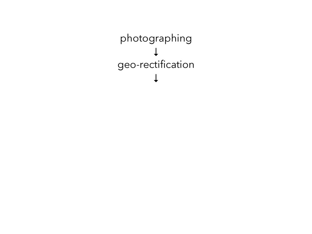 photographing ↓ geo-rectification ↓