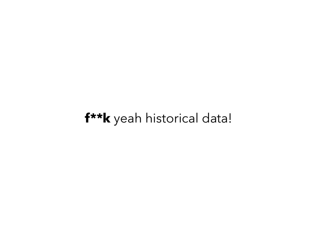 f**k yeah historical data!