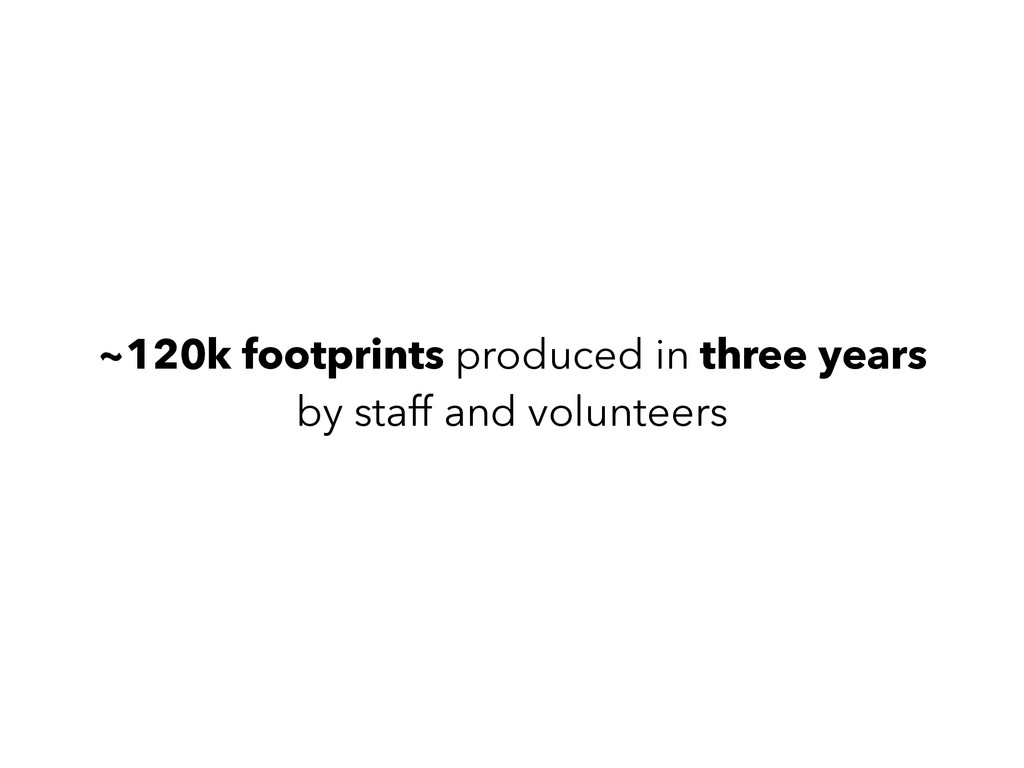 ~120k footprints produced in three years by st...