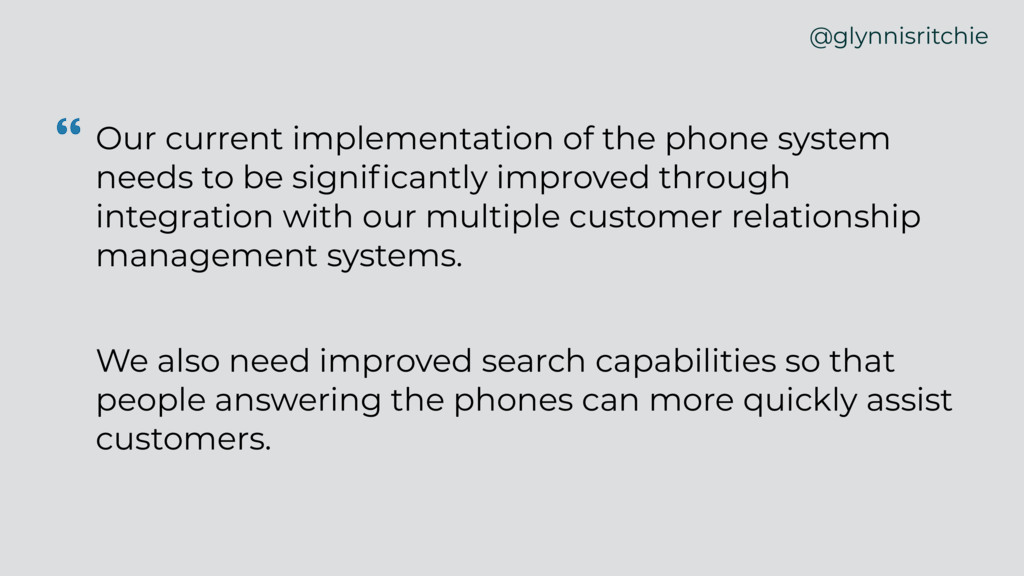 """ Our current implementation of the phone syste..."