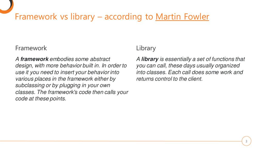 Framework vs library – according to Martin Fowl...