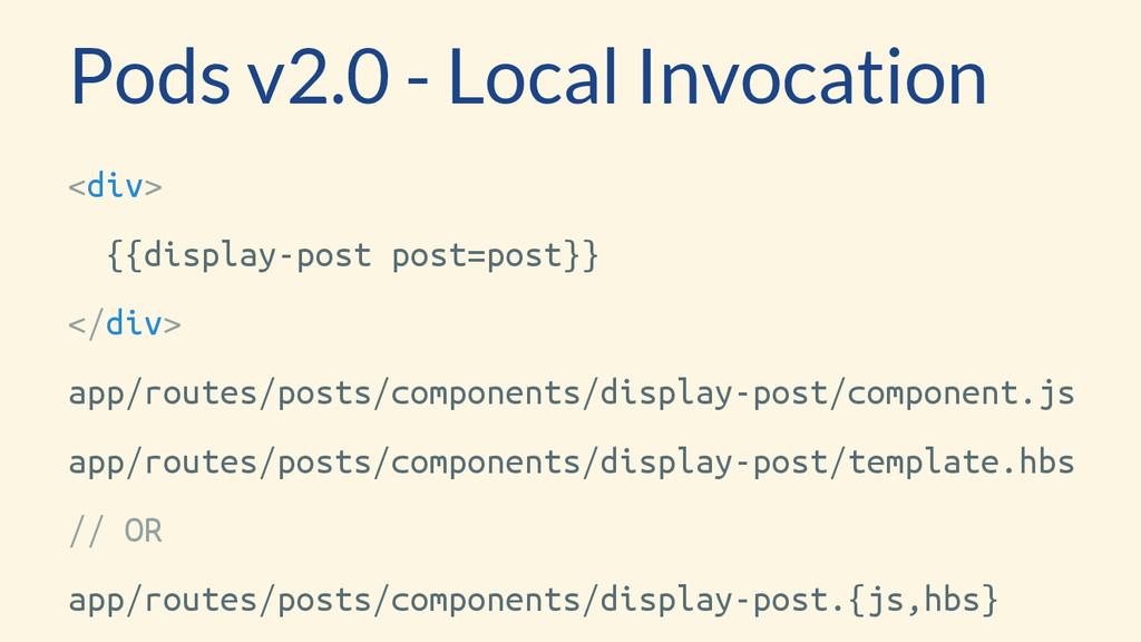 <div> {{display-post post=post}} </div> app/rou...