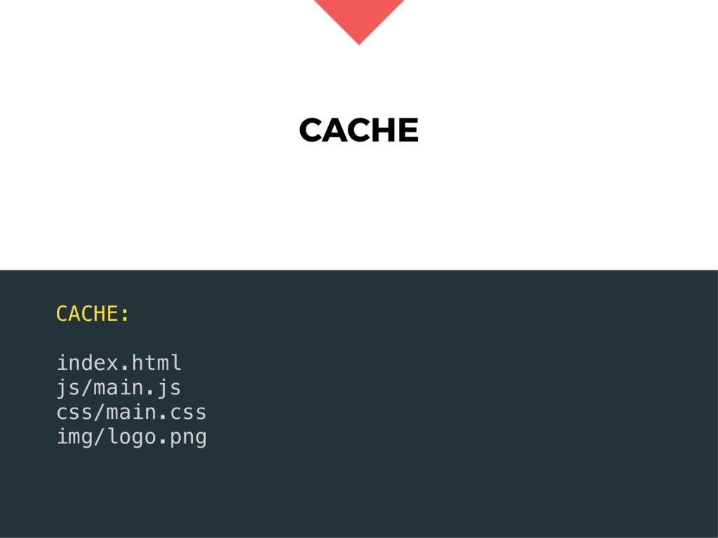 CACHE CACHE: index.html js/main.js css/main.css...