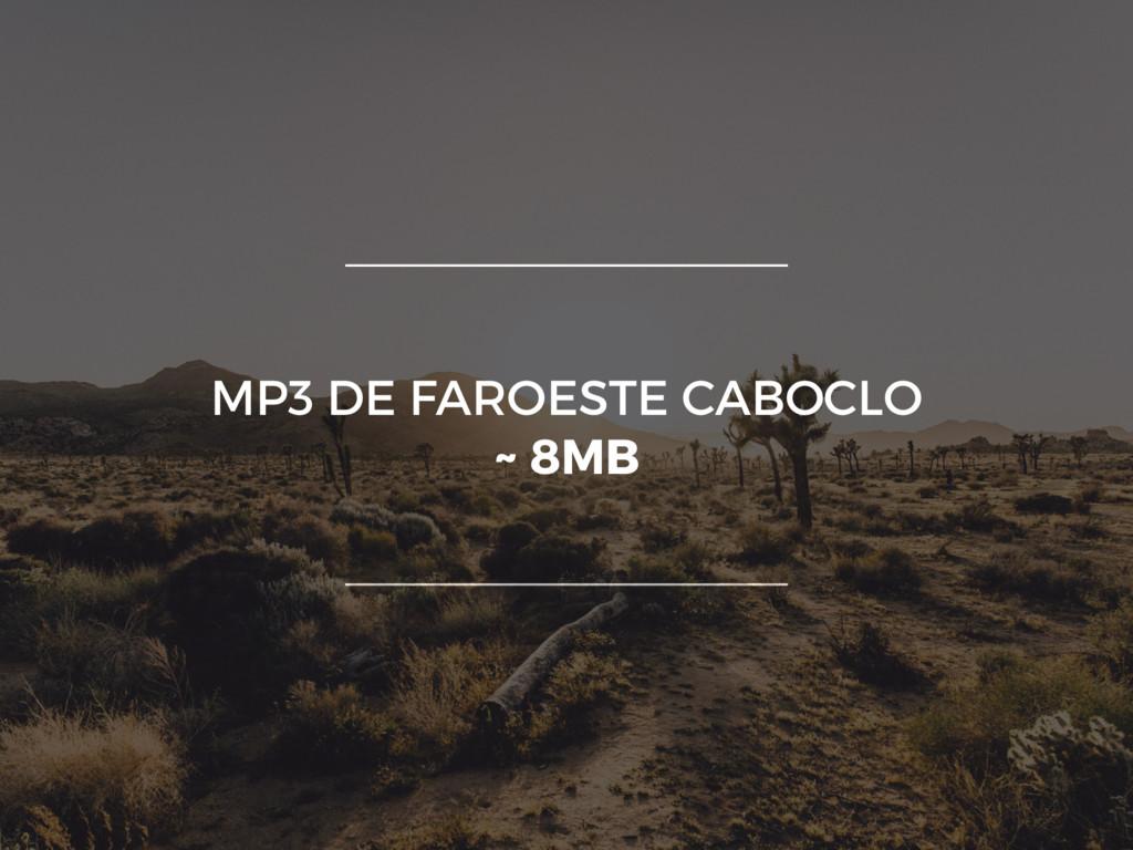 MP3 DE FAROESTE CABOCLO ~ 8MB