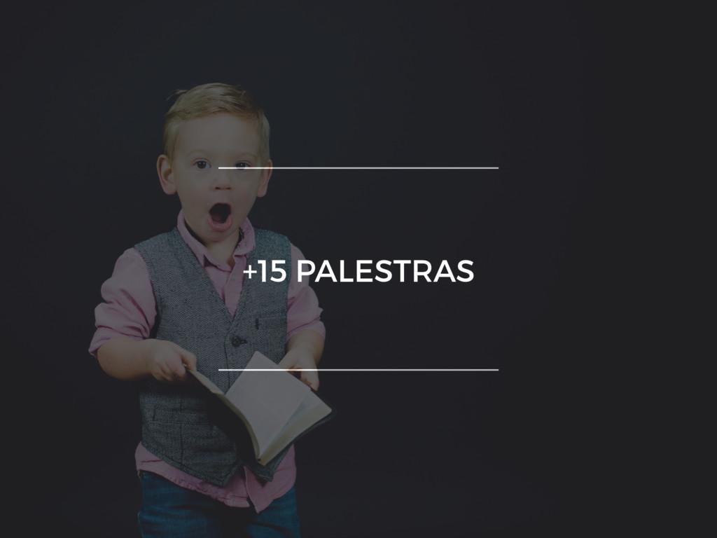+15 PALESTRAS