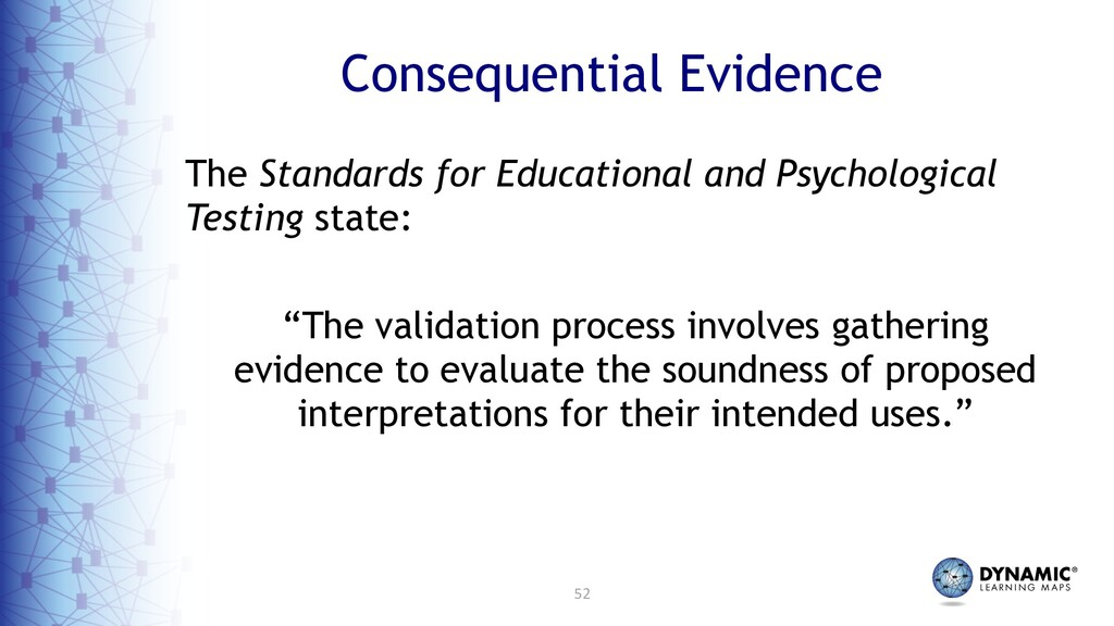 52 Consequential Evidence The Standards for Edu...