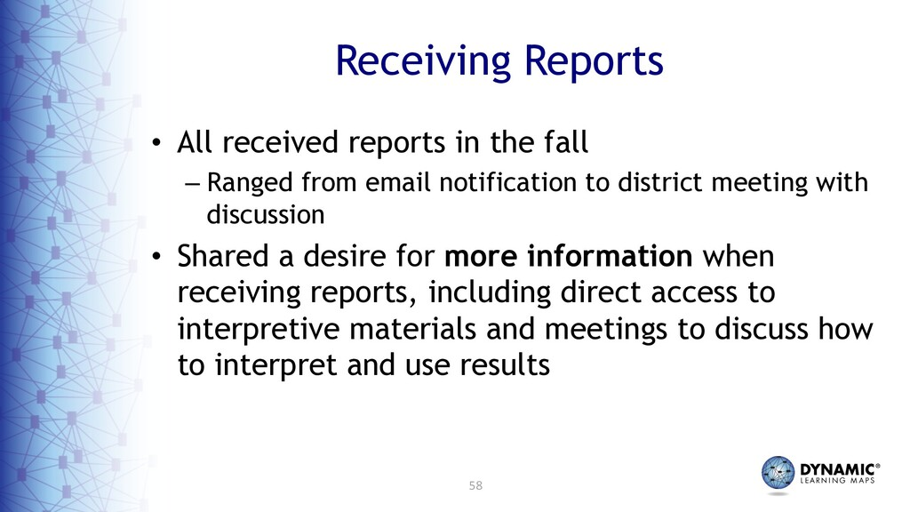 58 Receiving Reports • All received reports in ...