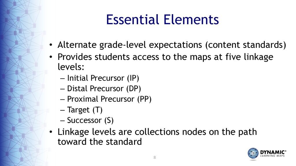 8 Essential Elements • Alternate grade-level ex...