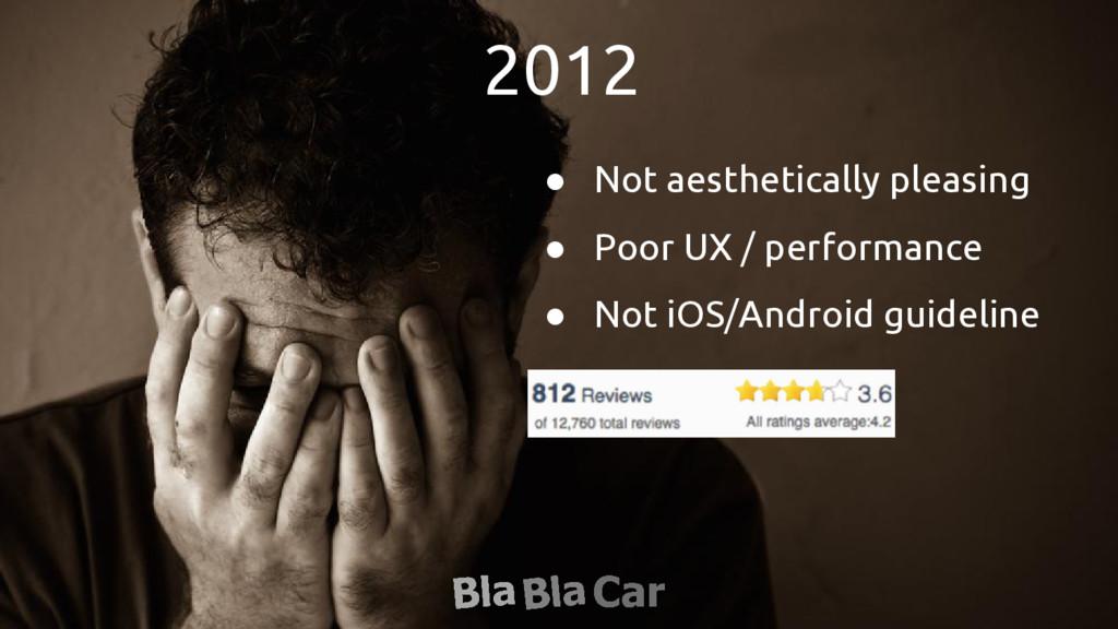 2012 ● Not aesthetically pleasing ● Poor UX / p...