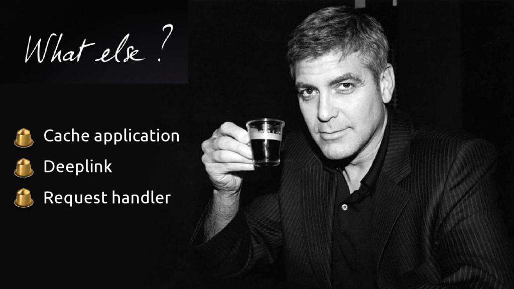 ● Cache application ● Deeplink ● Request handler