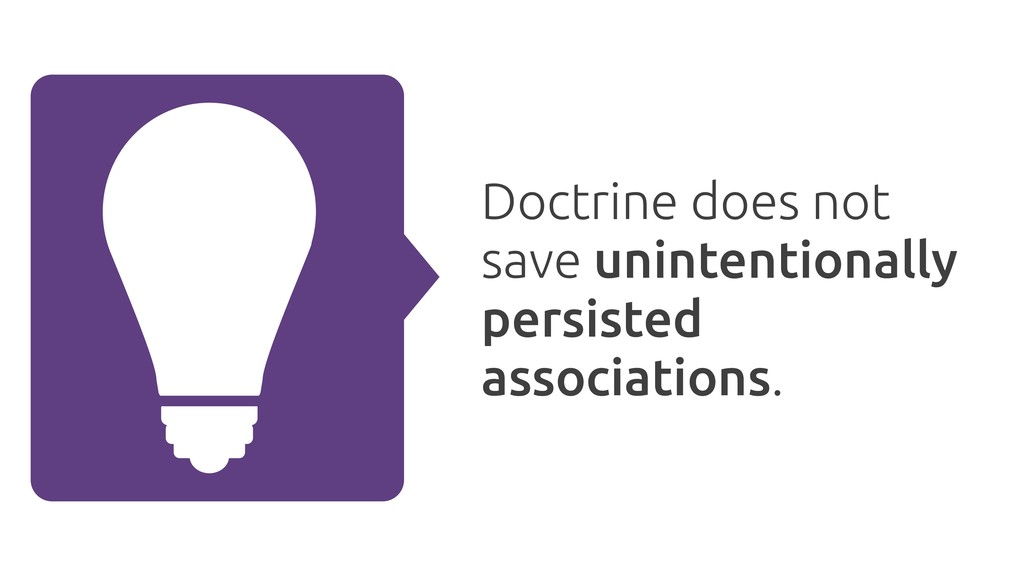 Doctrine does not save unintentionally persiste...