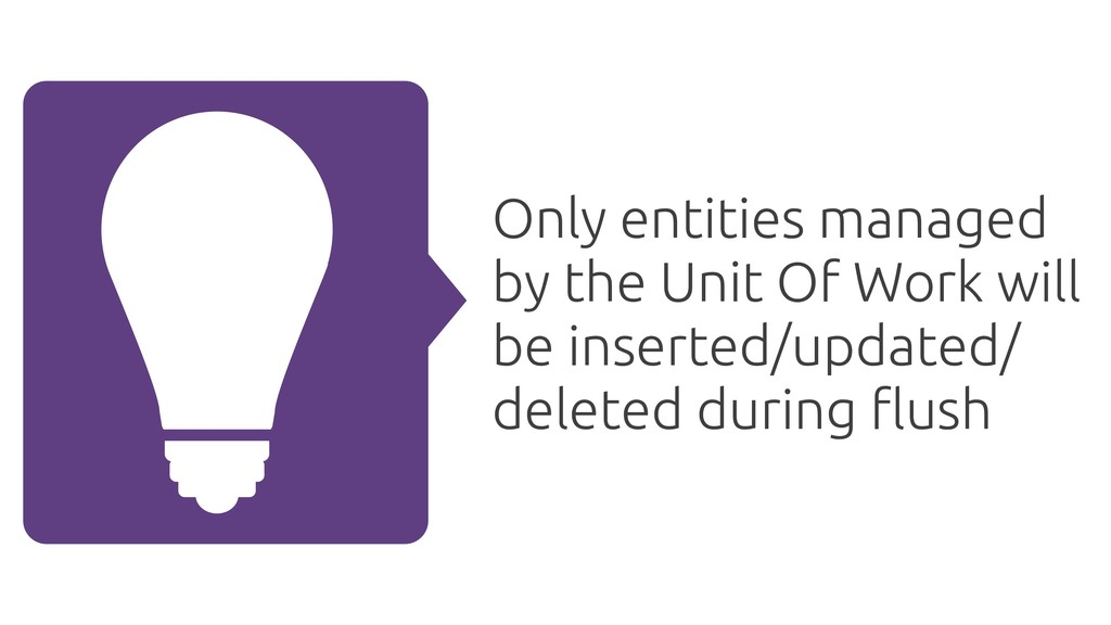 Only entities managed by the Unit Of Work will ...