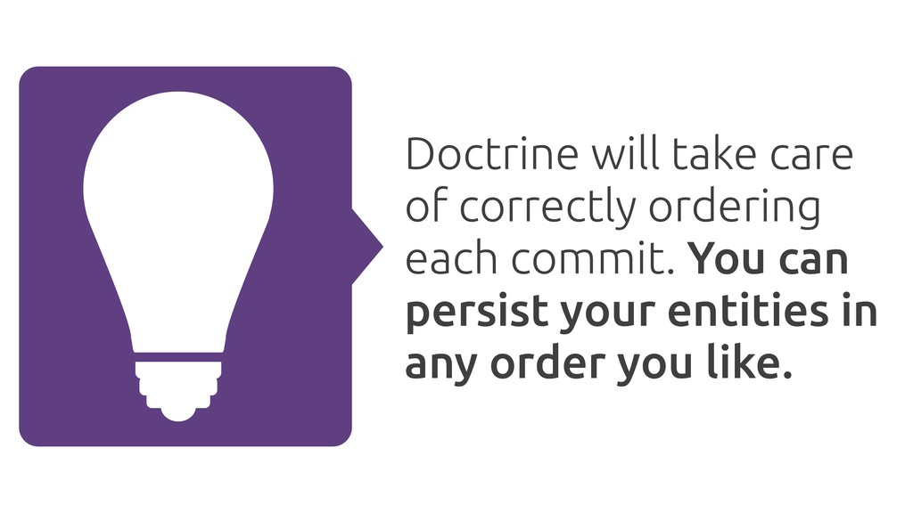 Doctrine will take care of correctly ordering e...