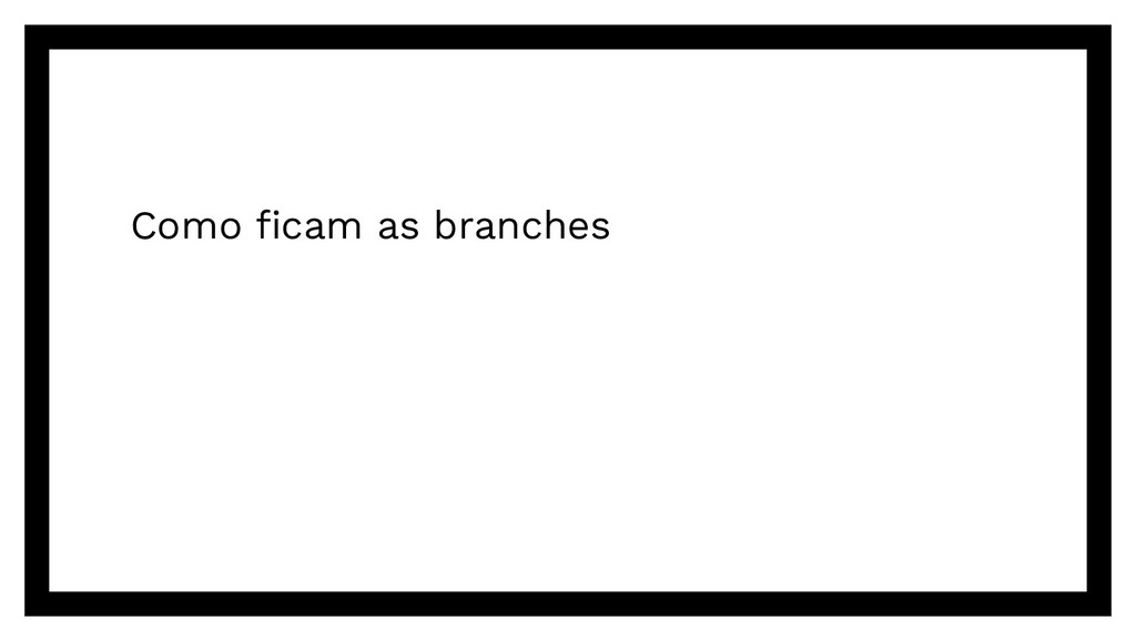 Como ficam as branches