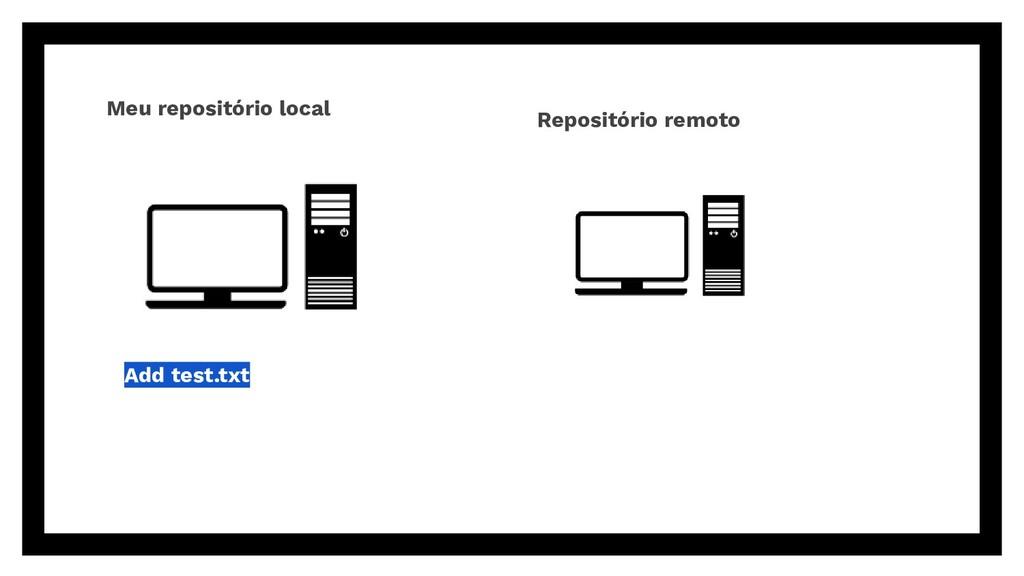 Add test.txt Meu repositório local Repositório ...