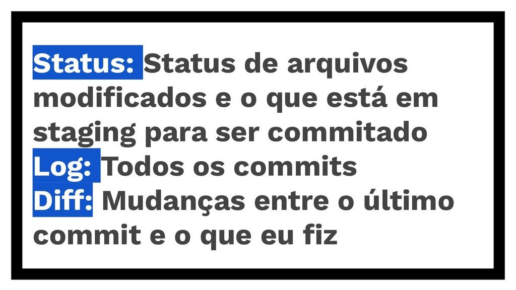 Status: Status de arquivos modificados e o que e...