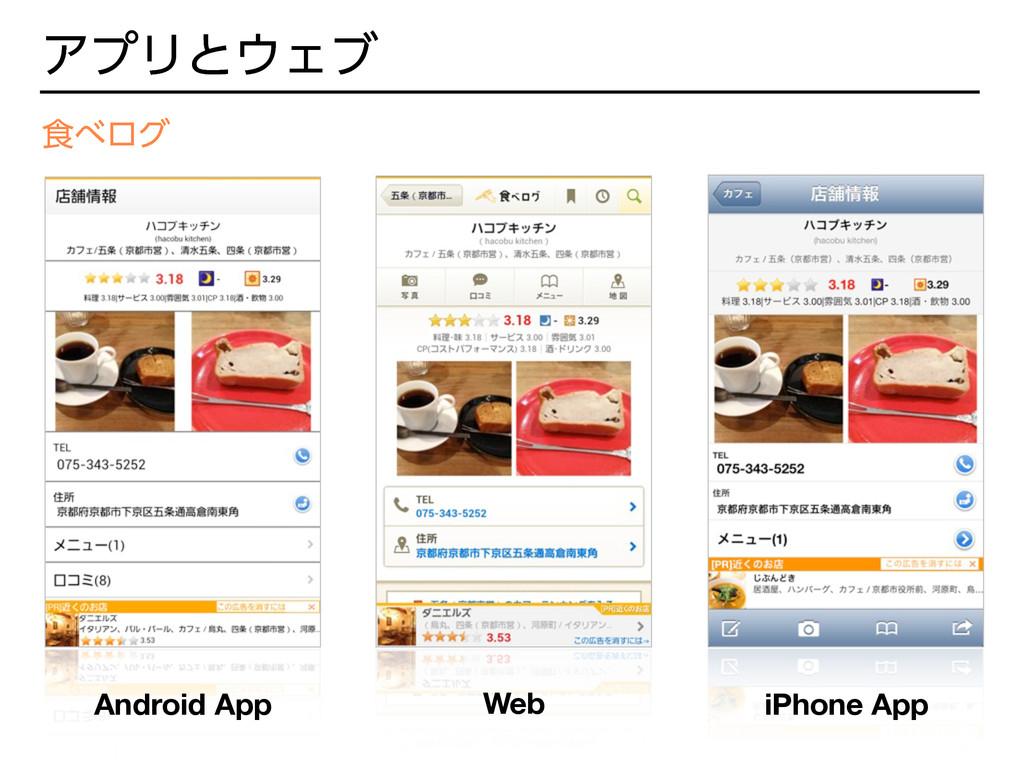 ΞϓϦͱΣϒ ৯ϩά Android App Web iPhone App