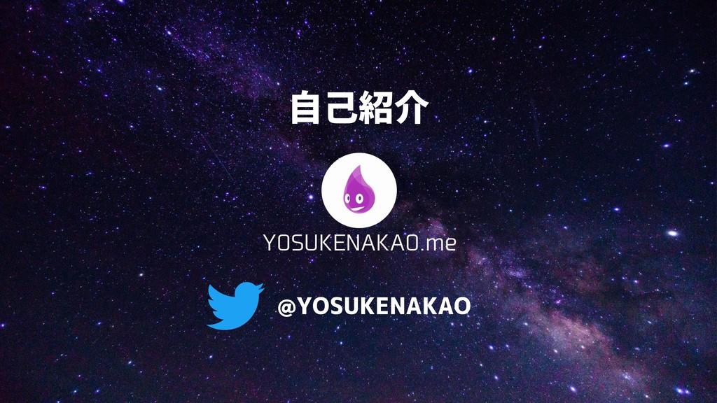 自己紹介 @YOSUKENAKAO