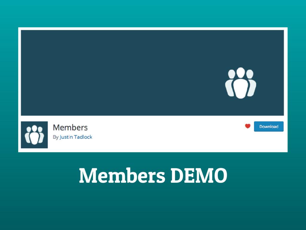 Members DEMO