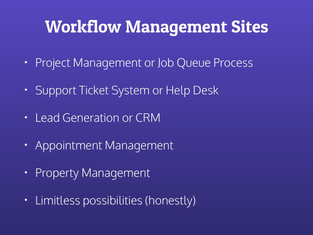 Workflow Management Sites • Project Management ...