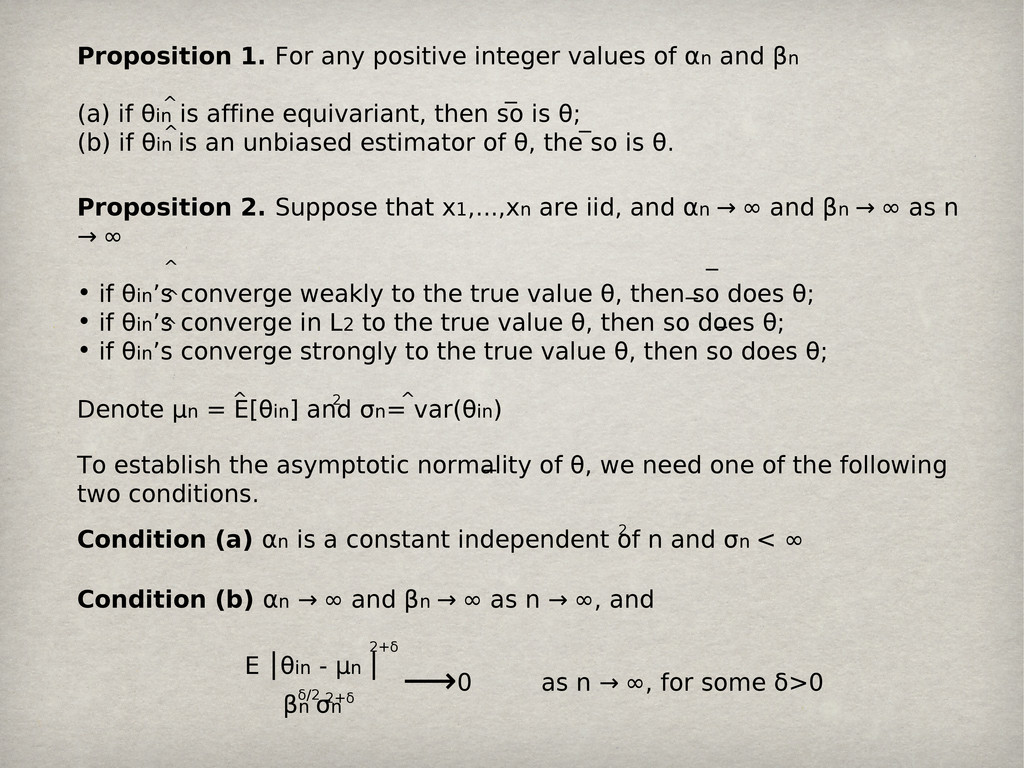 Proposition 1. For any positive integer values ...