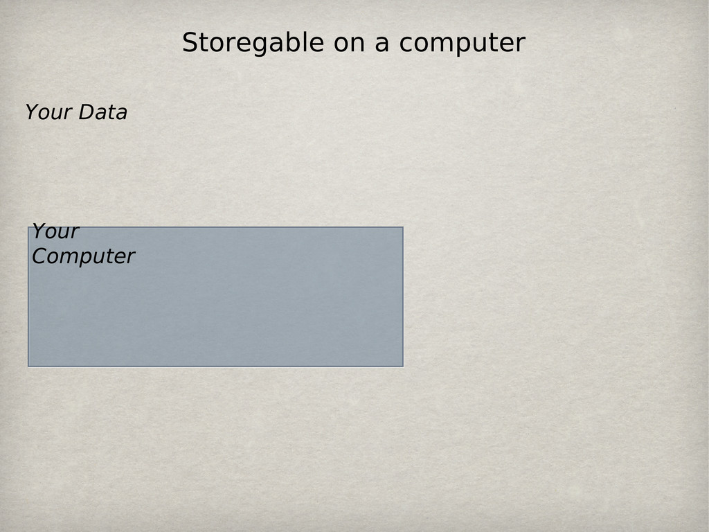 Your Computer Your Data Storegable on a computer